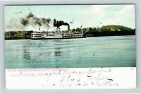 Cincinnati OH, Island Queen, Riverboat, Ohio, Vintage Postcard Z59