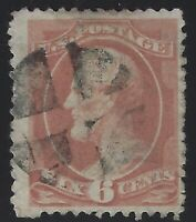 US Stamps - Scott # 208 - 6c Lincoln - some faults - Crossroads Cancel   (C-215)