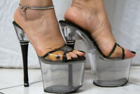 Mules Sandalo Pleaser  con strass  shoes  lapdance MADE in USA