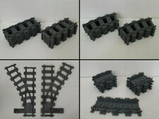 City Zug / Eisenbahn - Schienen Gerade / Kurve / Weiche - kompatibel mit Lego
