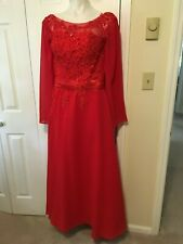 Red Mother of the bride Dress size 12