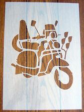 Lambretta Scooter Stencil Mask Reusable Mylar Sheet for Arts & Crafts, DIY