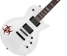 Biohazard Guitar Body Decal Sticker for Electric & Acoustic, Burgundy