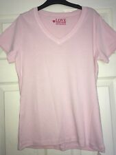 Bhs Pale Pink cotton top t-shirt size 12 new with