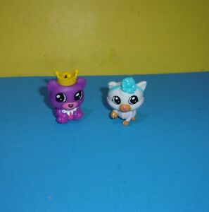 Tic Tac Toy XOXO Kitty Cat Blue Bow - Purple Crown Bear Figure Blip Toys