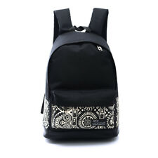 Women Canvas School Backpack Shoulder Bags Simple Plain Casual Loose Rucksacks