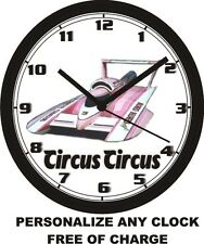 CIRCUS CIRCUS HYDROPLANE SPEED BOAT WALL CLOCK