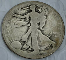 1921 Walking Liberty Silver Half Dollar US Mint Coin Good++ Key and Rare Date