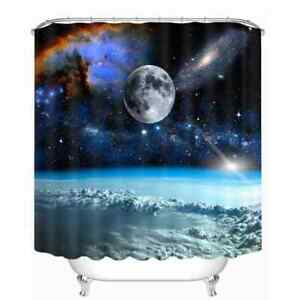 Space Above The Clouds 3D Shower Curtain Polyester Bathroom Decor  Waterproof