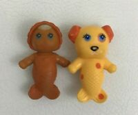 """Sea Wees 2"""" PVC Mermaid Dubloon Dog Pet and Finella Baby Vintage 1980s Kenner"""
