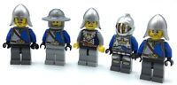 LEGO LOT OF 5 CROWN KNIGHT MINIFIGURES CASTLE KINGDOMS SOLDIER FIGURES