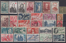 France famous people,red cross,fauna-bird,horses,airplanes,sport 28 stamps USED
