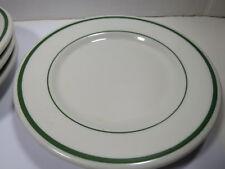 Vtg Buffalo China Restaurant Ware Green Stripe  Bread Side Plate Lot of 4