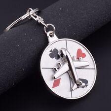 New Creative Silver Metal Key Chain Ring Gift Poker Keychain Keyfob Keyring Gift