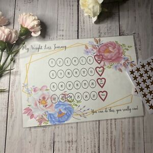 A5/A4/A3 Personalised Weight Loss Chart Diet Tracker- Magnetic optional
