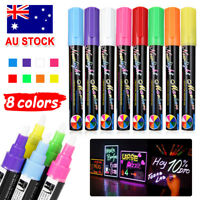 8x 6mm Liquid Chalk Marker Pens 2 Tips LED Writing Board Glass Art Pen Window