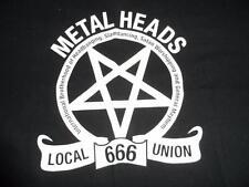 Metal Heads Local 666 Union shirt Size large near mint