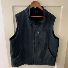 WOLVERINE Canvas mens Work Vest BLACK L Fleece Lined