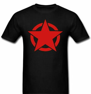Anarchy Star Protest Red star t shirt Tee