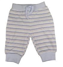Babaluno Baby Hose hellblau gestreift 3/6 Monate 62 - 68cm Strampelhose NEU