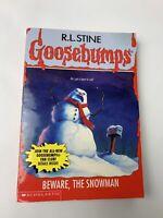 Vintage Goosebumps #51 BEWARE, THE SNOWMAN-R L Stine-1st edition-1997