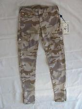 True Religion Skinny Camo Cargo Legging Flap Pockets-Sand- Size 27 - NWT $180
