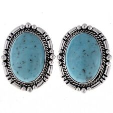Navajo Turquoise Earrings Choice of Clip On or Stud Posts or French Hooks
