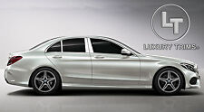Mercedes C Class W205 Stainless Steel Pillar Posts by Luxury Trims 2015-2018 6pc