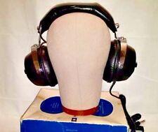 """Deadstock Vtg 70s NOS DHC 5 Watt 3 1/2"""" Speaker 600 HZ Chrome Dynamic Headphones"""