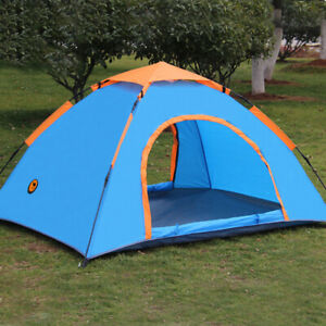 Outdoor Hiking Camping Tent Anti-UV 2 Person Ultralight Tent With Storage Bags