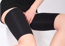Women Black Solid Slimming Thighs Shaper Elastic Stretch Plastic Leg Socks Set