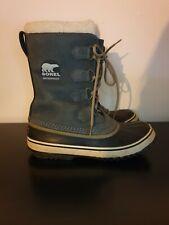 Sorel Grey 1964 Pac Boot Size 8 Waterproof Winter Snow