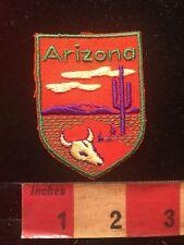 Vtg ARIZONA Desert Theme Patch - Cactus & Cow Skull S82C