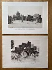 Antonio Carbonati Folio Of 12 Roma / Rome Lithograph Prints B/W 1954