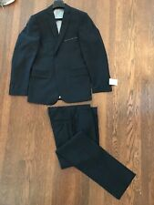 ELSOM QUIKSILVER Men's Suit RARE COLLAB - BLACK - Wool - 97 Reg Incl Canvas Bag