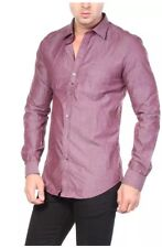 Diesel S-Nami Slim Fit Shirt Front Button. Wine Red, UK M. RRP £110