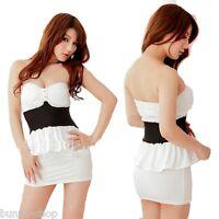 Knappes Bandeau Kleid Kleidchen mit Pads inklusive String passend für ca. XS-S