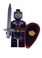 Custom Designed Minifigure - Superhero Black Knight Printed On LEGO Parts
