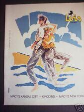 1984 Art by Bill Rieser LOIS Sportswear MACY'S Print ad