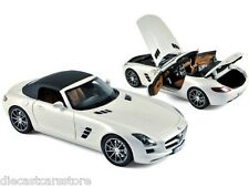 Norev  2011 Mercedes Benz SLS AMG Roadster Pear White 1/18 Diecast 183491