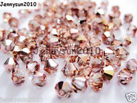 100Pcs Top Quality Czech Crystal Bicone Beads Exclusive 3mm 4mm Capri Gold