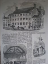 St John's Schools Fitzroy Square London 1860 old prints and article