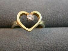 dezenter Brillant-Ring mit Herz  Gold  585