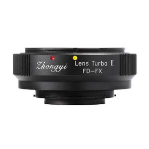 Lens Turbo II adapter for Canon FD mount lens to FUJIFILM XPro2 XH1 XT3 XT20 T1