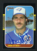 Dave Stieb #195 signed autograph auto 1987 Donruss Baseball Trading Card