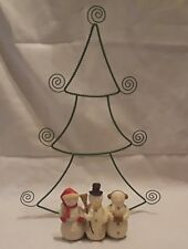 Christmas Tree with Snowmen Paper Napkin Plate Holder