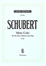 Partition pour musique chorale / voix - Franz Schubert - Messe G-Dur D 167