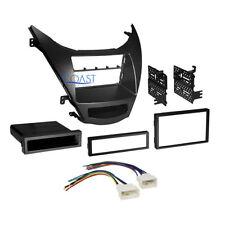 Car Radio Stereo Single Double Din Dash Kit Harness for 2011-13 Hyundai Elantra