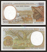 CENTRAL AFRICAN STATES CONGO 500 Francs 2000 P-101C 101Cg UNC Uncirculated