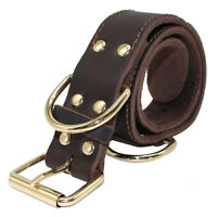 Real Leather Dog Collar Large Dogs Training Collar for German Shepherd Pit Bull